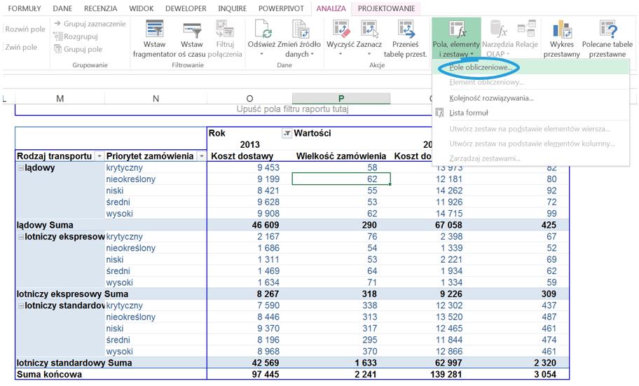 5 sposobów wykorzystania pola i elementu obliczeniowego w tabeli przestawnej_15