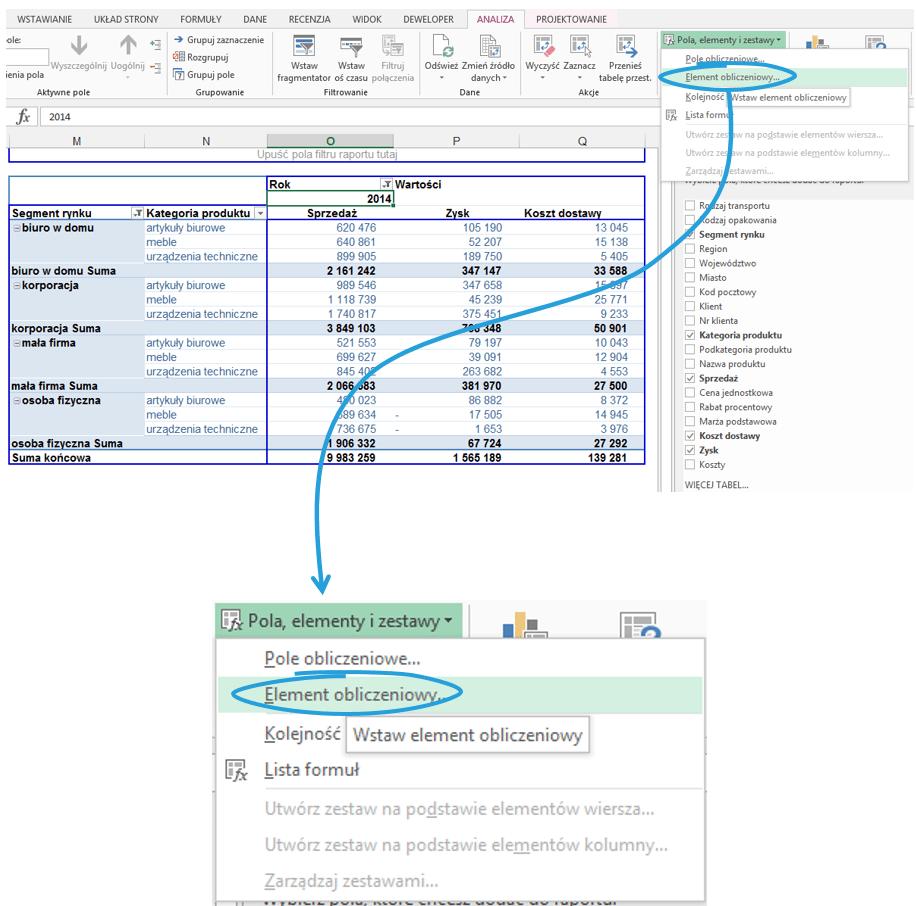 5 sposobów wykorzystania pola i elementu obliczeniowego w tabeli przestawnej_19