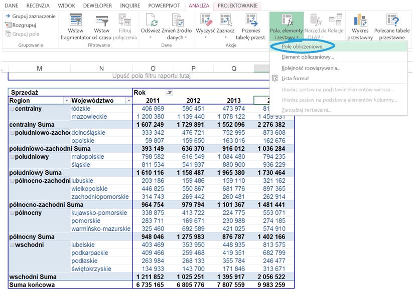 5 sposobów wykorzystania pola i elementu obliczeniowego w tabeli przestawnej_25