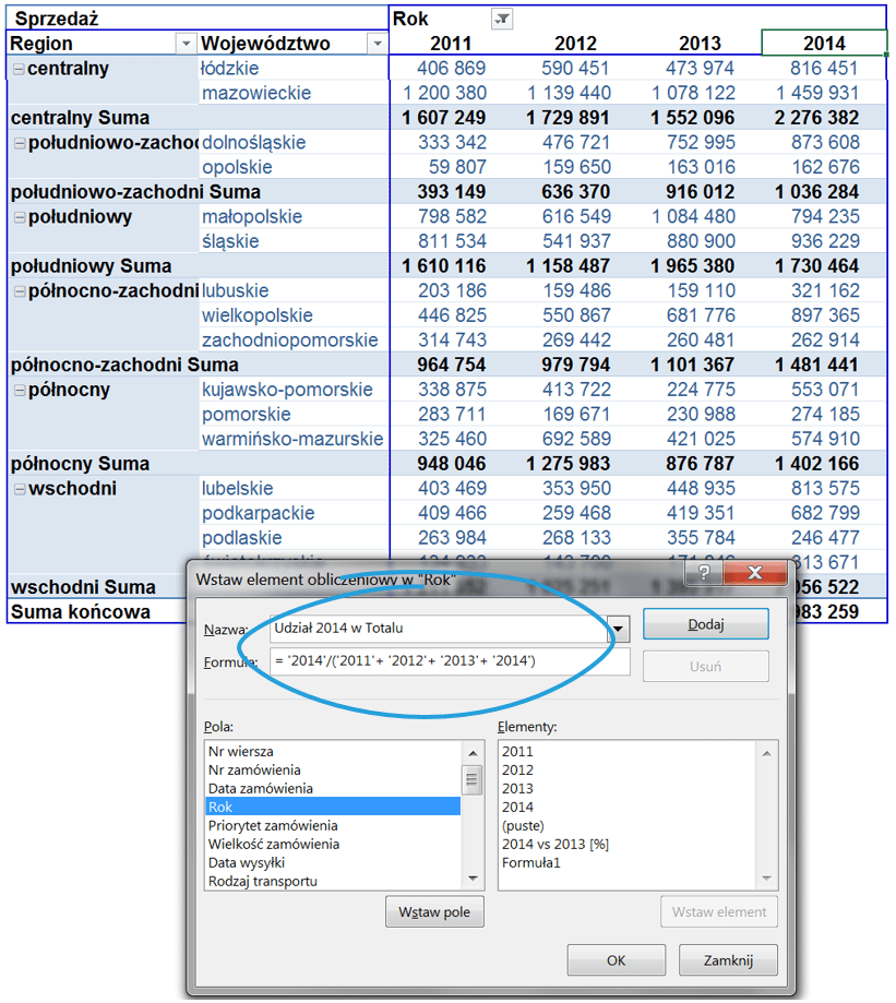 5 sposobów wykorzystania pola i elementu obliczeniowego w tabeli przestawnej_26