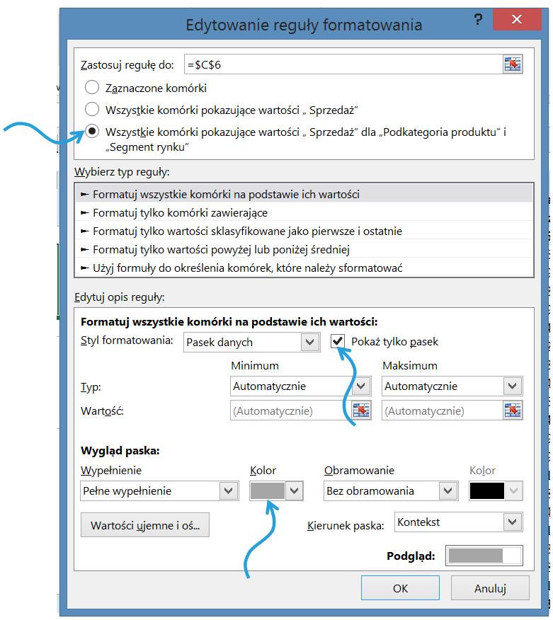 Dashboard analityczny wExcelu krok pokroku (cz.1 ) - formatowanie warunkowe wtabeli przestawnej_10