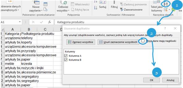 Przestawienie drugiej zmiennej na wykresie Excel w postaci koloru 2