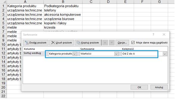 Przestawienie drugiej zmiennej na wykresie Excel w postaci koloru 3