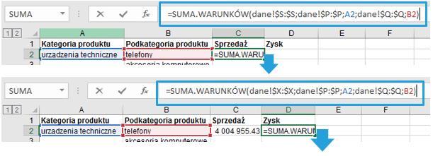 Przestawienie drugiej zmiennej na wykresie Excel w postaci koloru 4